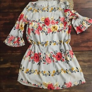 Old Navy Floral Dress with Bell Cap Sleeves